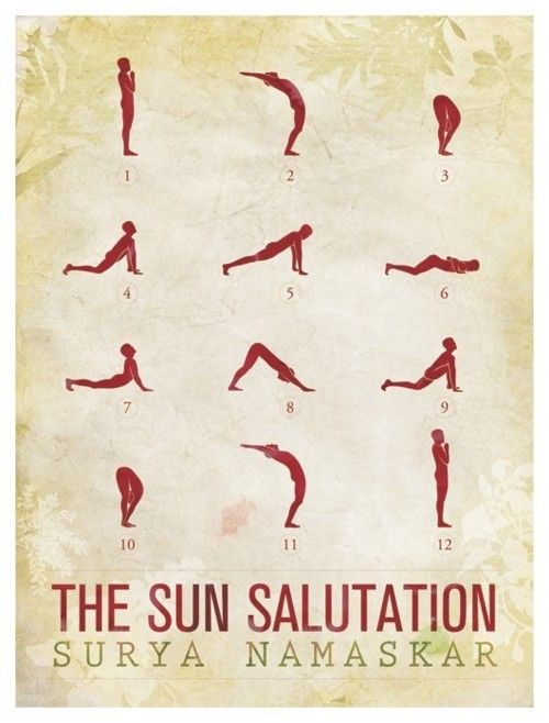 The Surya Namaskara Sun Salutation Journal Edge