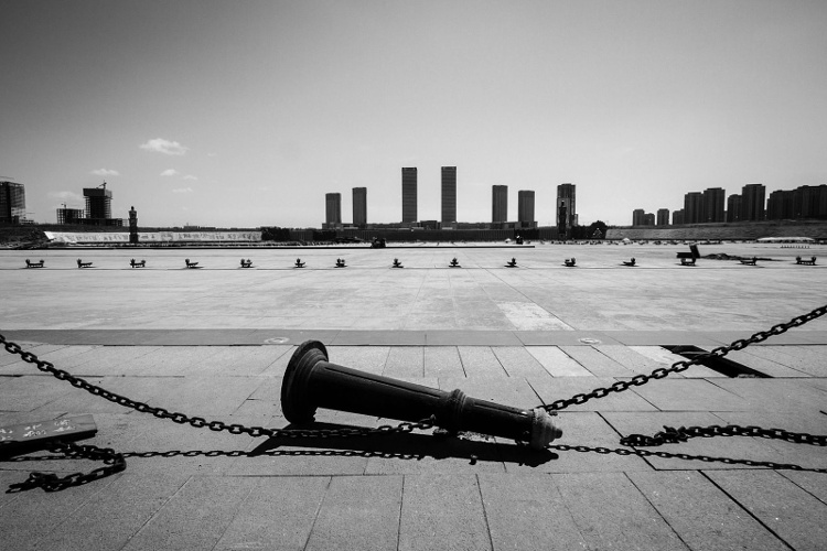Kangbashi, a subdivision of the Chinese city of Ordos, Inner Mongolia: a city newly built in the middle of no where is a ghost city which can accommodate up to a million people is completely empty with empty shopping malls, roads, parks, etc.