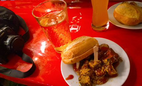 Currywurst in Frankfurt, Germany